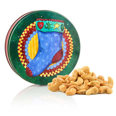 Whole Jumbo Cashews-Christmas Tin
