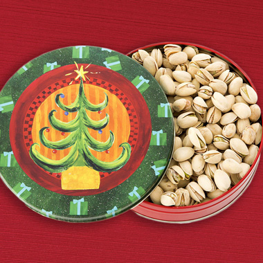Pistachio Christmas Tin